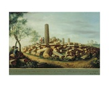 Ancient Temple at Agrigentum Giclee Print by Luigi Mayer