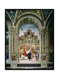 Aeneas Sylvius Piccolomini (1405-64) Is Crowned Poet Laureate by Frederick III (1415-93) in 1442,… Giclee Print by Bernardino di Betto Pinturicchio