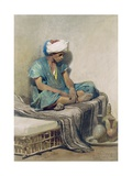 A Himali or Water Seller, 1855 Giclee Print by Carl Haag