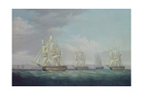 The Capture of the Santa Brigida, 1799 Giclee Print by Thomas Whitcombe