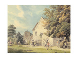 A Game of Bowls on the Bowling Green Outside the Bunch of Grapes Inn, Hurst, Berkshire Giclee Print by Michael Rooker