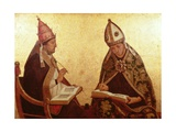 St. Gregory and St. Augustine, C.1510 Giclee Print by Juan de Borgona