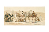 Camel Market Outside Damascus, 1859 Giclee Print by Carl Haag