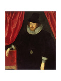 Portrait of Francis Bacon (1561-1626) 1st Baron of Verulam and Viscount of St. Albans Giclee Print by William Larkin