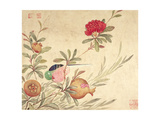 One of a Series of Paintings of Birds and Fruit, Late 19th Century Giclee Print by  Wang Guochen