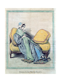 Pregnant Woman, Bump of Philanthropy, Caricature from 'Le Charivari', C.1840 Giclee Print by Paul Gavarni