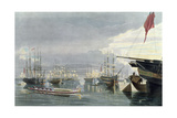 A View of the River, Shipping and Town of Calcutta, from Near Smiths Dock, 1837, Engraved by… Giclee Print by James Baillie Fraser