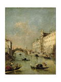 Venice, Il Rio Dei Mendicanti Giclee Print by Francesco Guardi