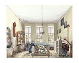 The Kitchen at Aynhoe, 3rd February 1847 Giclee Print by Lili Cartwright