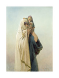 A Coptic Mother, 1859 Giclee Print by Carl Haag