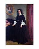 Portrait of Marie Deveria, 1856 Giclee Print by Eugene Deveria