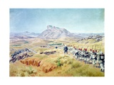 The Taking of Andriba Peak, Madagascar, 15th September 1895 Giclee Print by Louis Tinayre