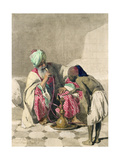The Nargileh Smoker and His Slave Boy, 1883 Giclee Print by Carl Haag