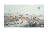 The Opening of New London Bridge, by King William IV and Queen Adelaide, 1831 Giclee Print by Robert The Elder Havell