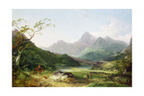 A View of Snowdon from Capel Curig, 1787 Giclee Print by Philip James De Loutherbourg