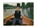 Rower in a Top Hat, C.1877-78 Giclee Print by Gustave Caillebotte