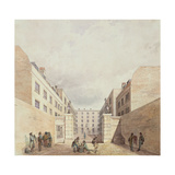 View of the East India Company's Warehouses from Cutler Street, 1836 Giclee Print by Frederick Nash