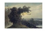 The Lake of Albano and Castle Gandolfo, C.1783-85 Giclee Print by John Robert Cozens