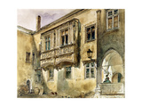 Gothic Balcony in the Courtyard of Klosterneuburg Abbey, C.1840 Giclee Print by Rudolph von Alt