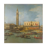 View of the Palace of St Mark, Venice, with Preparations for the Doge's Wedding Giclee Print by  Canaletto