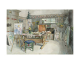 The Studio, from 'A Home' Series, C.1895 Giclee Print by Carl Larsson