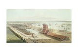View of Brunswick Dock and East India Dock, Poplar, 1803 Giclee Print by Thomas & William Daniell