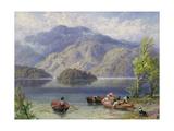 Ben Venue and Ellen's Isle, Loch Katrine Giclee Print by Myles Birket Foster