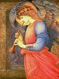 An Angel Playing a Flageolet, 1878 Giclée-tryk af Sir Edward Coley Burne-Jones