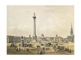Trafalgar Square, with the National Gallery and St. Martin's Church, Engraved by Thomas Picken… Giclee Print by Edmund Walker