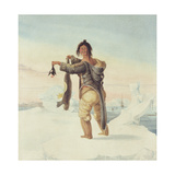 An Esquimaux of the Savage Islands, 1821 Giclee Print by Captain George Francis Lyon