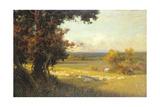 The Golden Valley Gicléedruk van Sir Alfred East