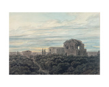 Temple of Minerva Medica Giclee Print by John Robert Cozens
