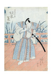 The Actor Bando Tokuke as Takahastu Yajuro, a Samurai Giclee Print by Utagawa Kunisada