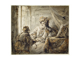 An Oriental Prince to Whom the Man Presents a Sword Giclee Print by Aert de Gelder