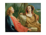 Christ and the Samaritan Woman Giclee Print by Giandomenico Tiepolo