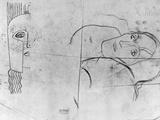 Studies for Ver Sacrum 1900 - Pallas Athene and a Tragic Head, 1897-98 Photographic Print by Gustav Klimt