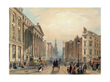 Mansion House Looking Towards Cheapside, Engraved by Thomas Picken (D.1870) Published by… Giclee Print by George Sidney Shepherd