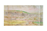 Panoramic View of Brussels, 16th Century Giclee Print by Anthonis van den Wyngaerde