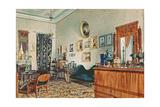 Mikhail Obreskoff's Office, 1848 Giclee Print by Luigi Premazzi