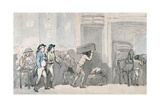 Rowlandson and Wigstead (1745-93) Arriving at an Inn Giclee Print by Thomas Rowlandson