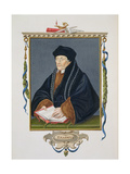 Portrait of Erasmus (C.1466-1536) from 'Memoirs of the Court of Queen Elizabeth', Published in 1825 Giclee Print by Sarah Countess Of Essex