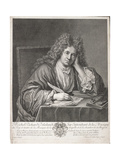 Michel Richard Delalande (1657-1726) Engraved by Simon Thomassin (1655-1733) Giclee Print by Jean Baptiste Santerre