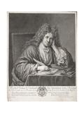 Michel Richard Delalande (1657-1726) Engraved by Simon Thomassin (1655-1733) Giclee Print by Jean Baptiste Santerre