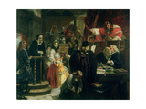 Judge Jeffries (1648-89) Hurling Abuse at Richard Baxter (1615-91) at His Trial Giclee Print by Edward Matthew Ward