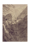 Via Mala in the Grisons Giclee Print by John Robert Cozens