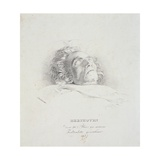 Ludwig Van Beethoven (1770-1827) on His Deathbed, 28th March 1827 Giclee Print by Josef Danhauser