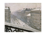 Boulevard Haussmann in the Snow, 1879 or 1881 Giclee Print by Gustave Caillebotte