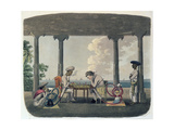 The Chess Match, Engraved by T. Rickards, 1804 Giclee Print by Charles Emilius Gold