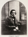 Frederic Chopin (1810-49) Engraved from a Daguerrotype Photographic Print