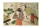 Lovers on a Balcony, C.1800 Giclee Print by Katsukawa Shuncho
